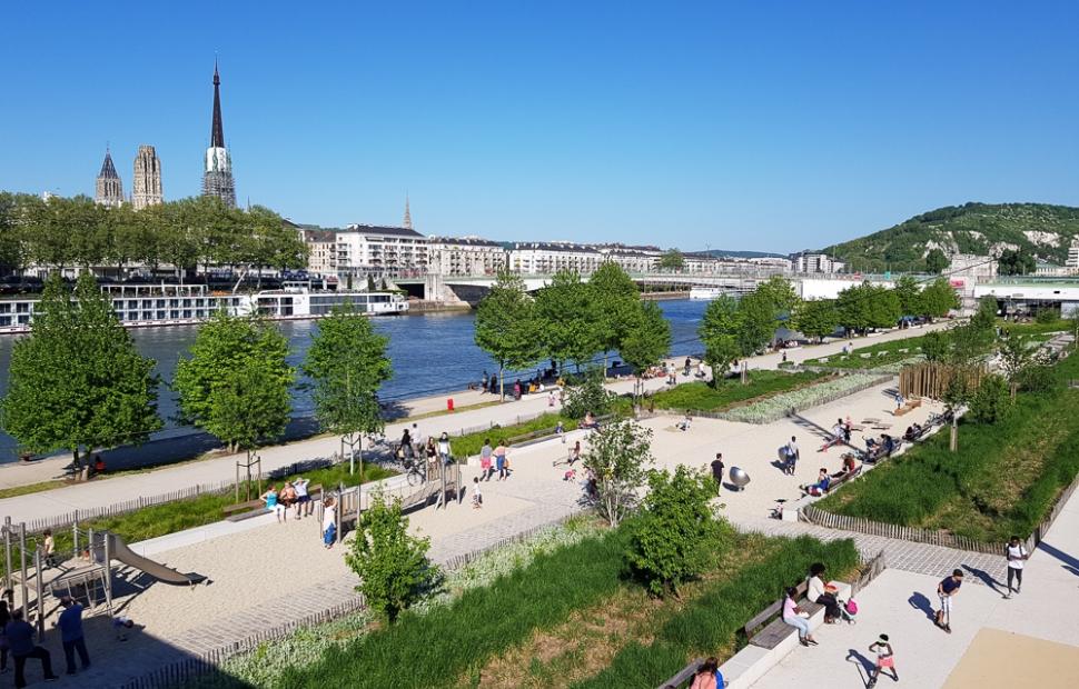 Rouen quais de Seine -� B. Collier - CRT Normandie