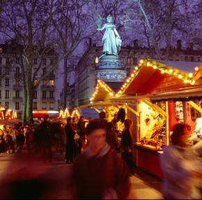 Marchés de Noël et des soies à Lyon
