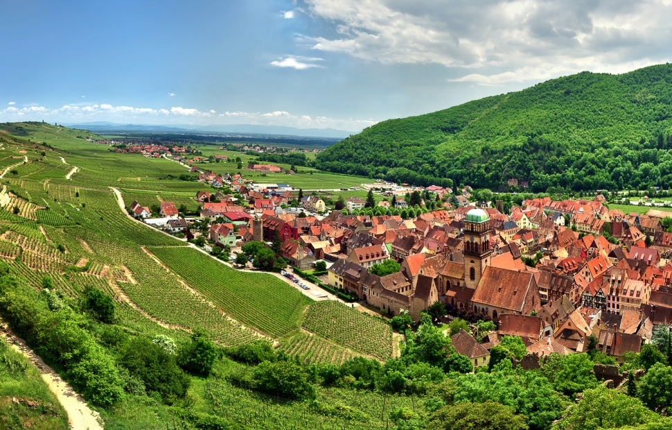 Kayserberg (c) Fotolia (Si découpe, garder moitie vigne, moitie village)telemack