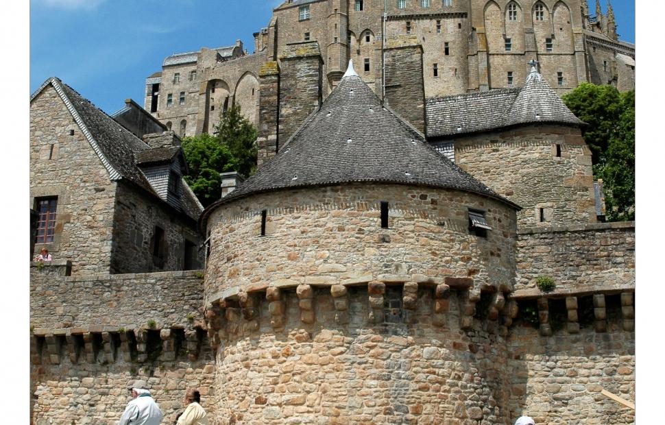 Randonneurs au Mont-Saint-Michel -� L. Helbert CRT Normandie