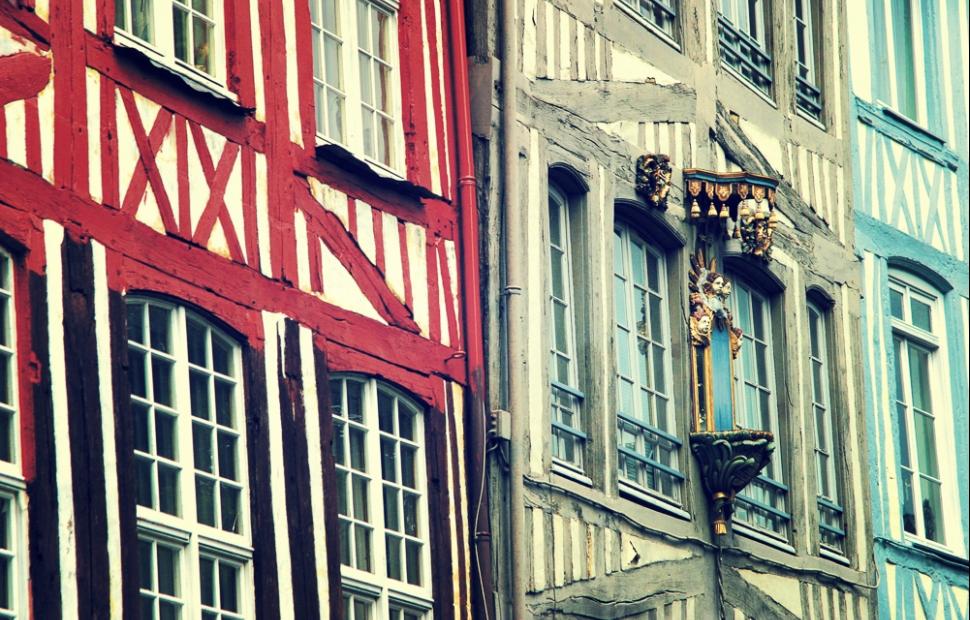 Rouen, maisons � pans de bois (c) Rouen, Normandie tourisme