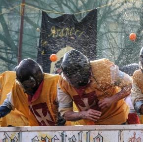 Carnaval d'Ivrea, au coeur du Piémont