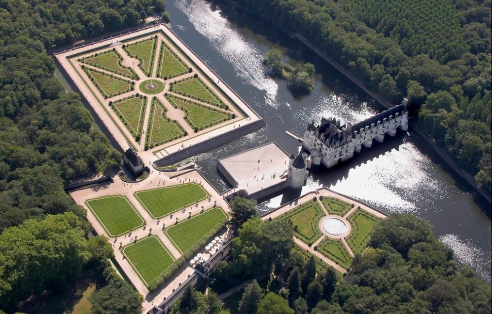 Château de Chenonceau (c) vue-aérienne Copyright Imagedemarc