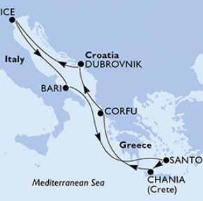 Croisière Italie, Îles grecques & Dubrovnik