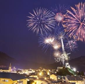 Lourdes & le feu d'artifice du 14 juillet