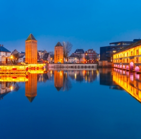 Amarrage féérique au coeur de l'Alsace