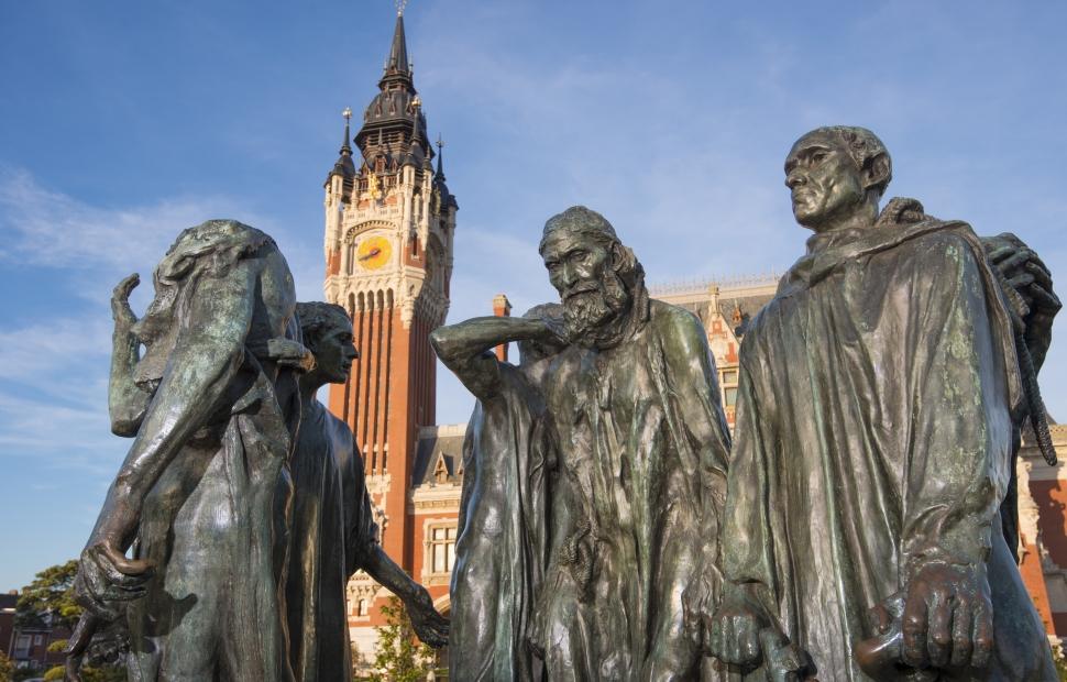 Calais, h�tel de ville & statue de Rodin �FREDERIK ASTIER-CALAIS-5515